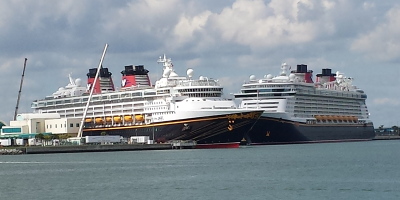 Unusual Two Disney Ships At Port Canaveral At The Same