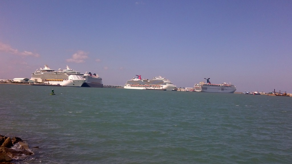 Four Ships docked at Port Canaveral